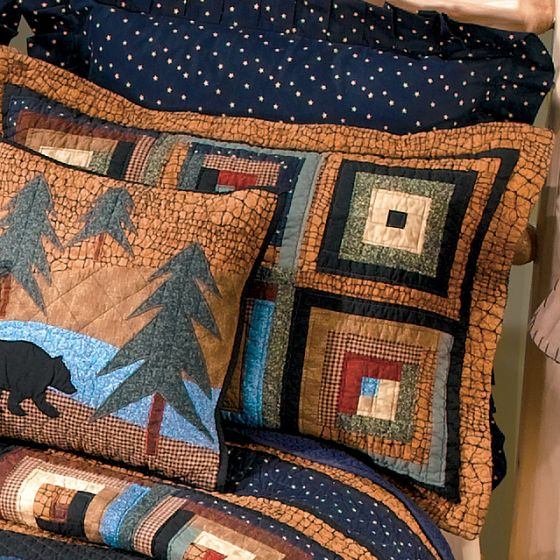 Donna Sharp Midnight Bear Rustic Lodge Quilted Collection Sham