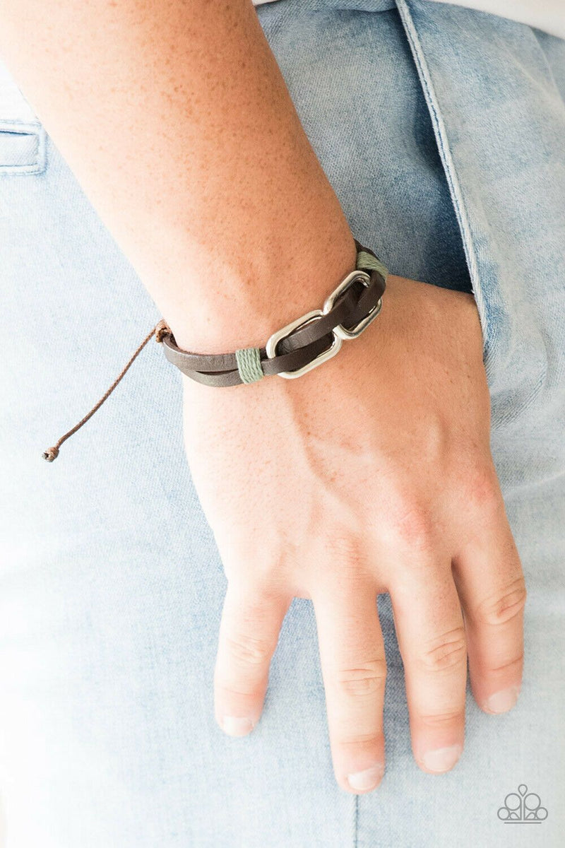 Paparazzi MOUNTAINEER Time Zone Brown Urban Bracelet