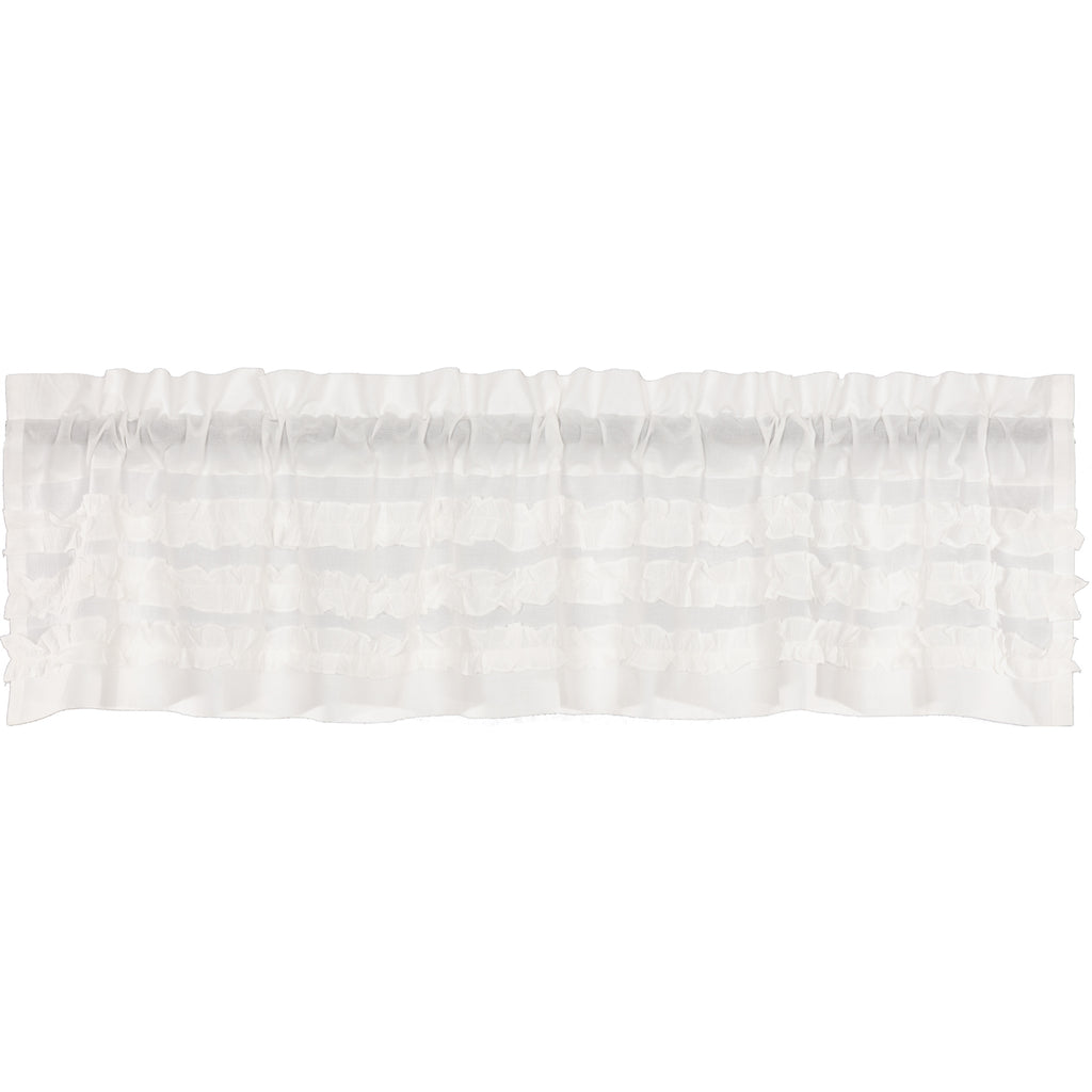 White Ruffled Sheer Petticoat Valance 16x72