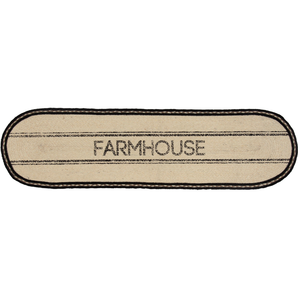 Sawyer Mill Charcoal Farmhouse Jute Runner 13x48