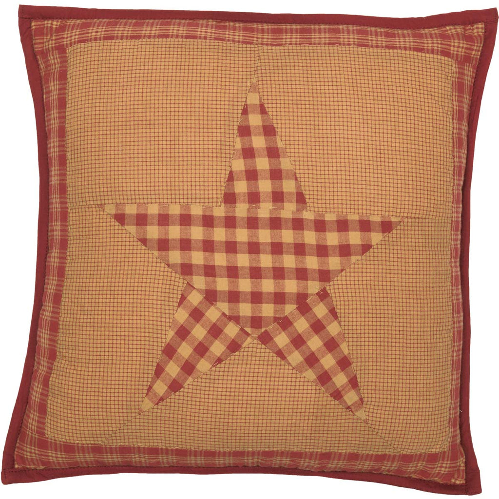 Ninepatch Star Quilted Pillow 16x16