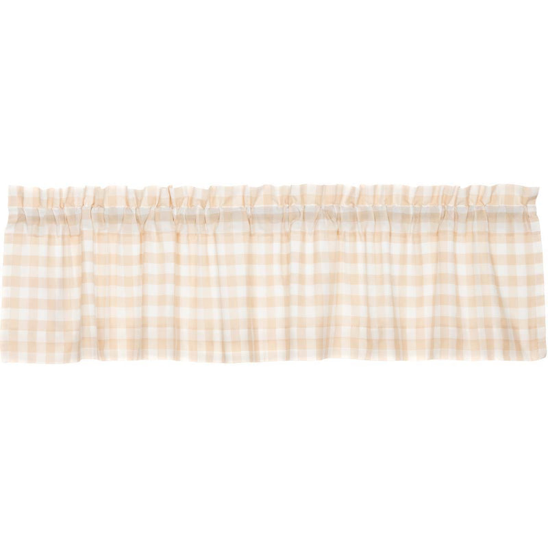 Annie Buffalo Tan Check Valance 16x72