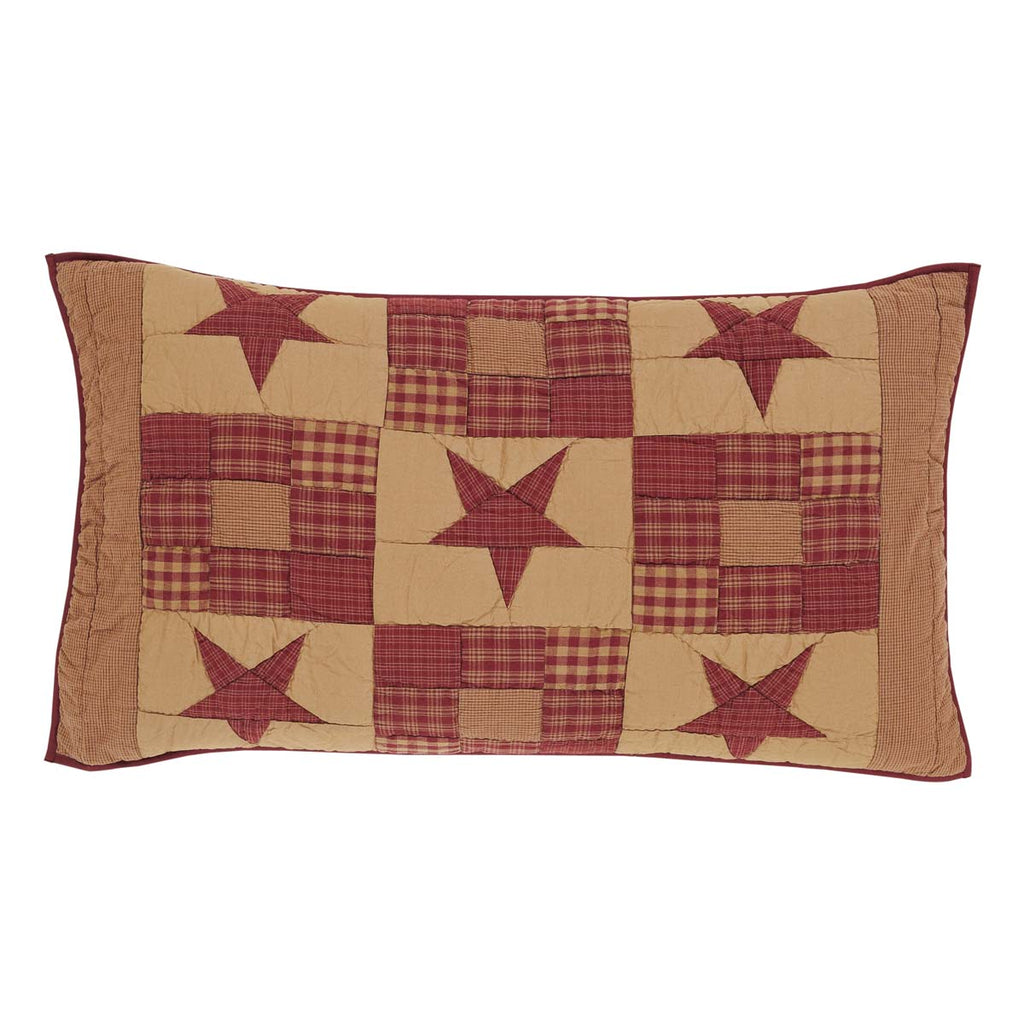 Ninepatch Star King Sham 21x37