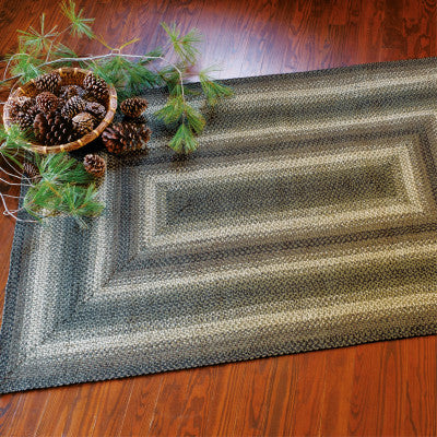 Pinecone Green Braided Jute Rug Collection