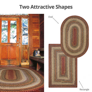 Pumpkin Pie Multi Color Cotton Braided Rug Collection