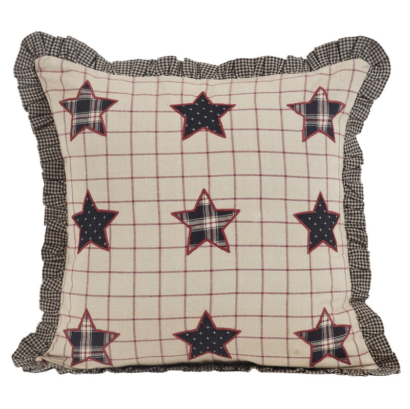 Bingham Star Fabric Pillow with Applique Stars 16x16