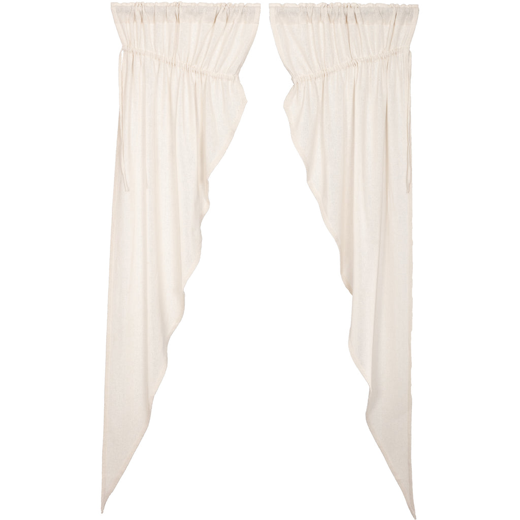 Burlap Antique White Prairie Long Panel Set of 2 84x36x18