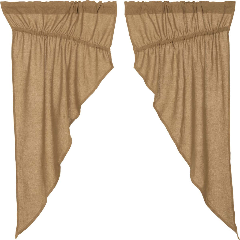 Burlap Natural Prairie Short Panel Set of 2 63x36x18