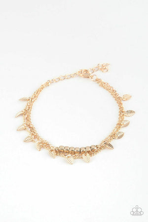 Paparazzi I Can And I QUILL Gold Bracelet