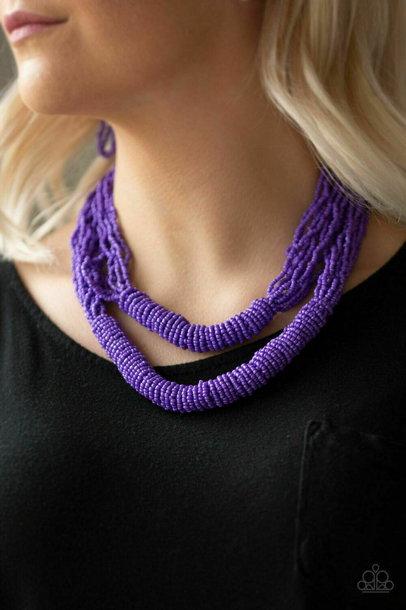 Paparazzi Right As RAINFOREST Purple Necklace