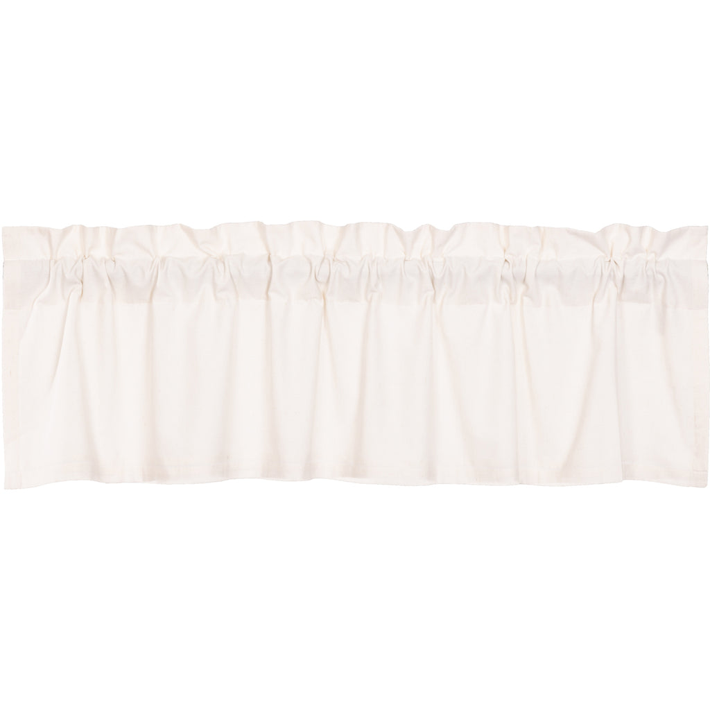 Simple Life Flax Antique White Valance 16x60