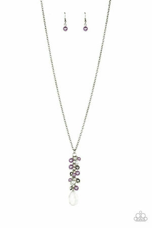 Paparazzi Teardrop Serenity Purple Necklace