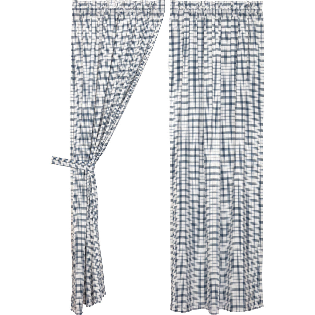 Sawyer Mill Blue Plaid Panel Set of 2 84x40