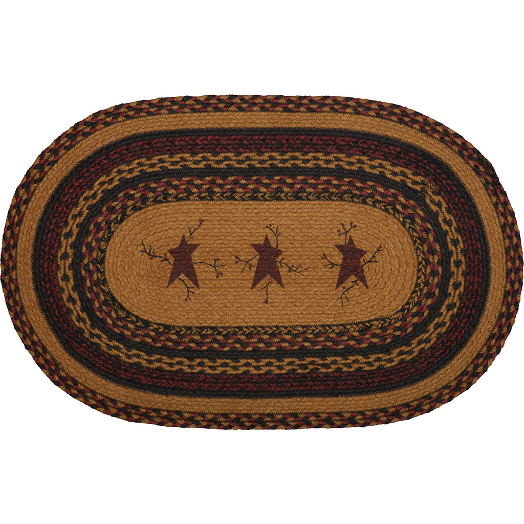 Heritage Farms Star and Pip Jute Rug Oval 20x30