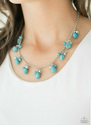 Paparazzi Rocky Mountain Magnificience Blue Necklace