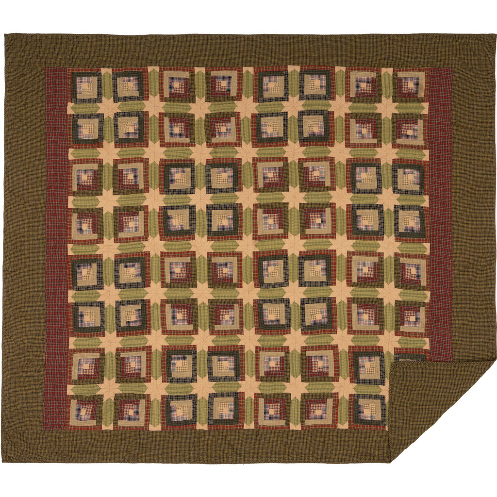 Tea Cabin King Quilt 110Wx97L