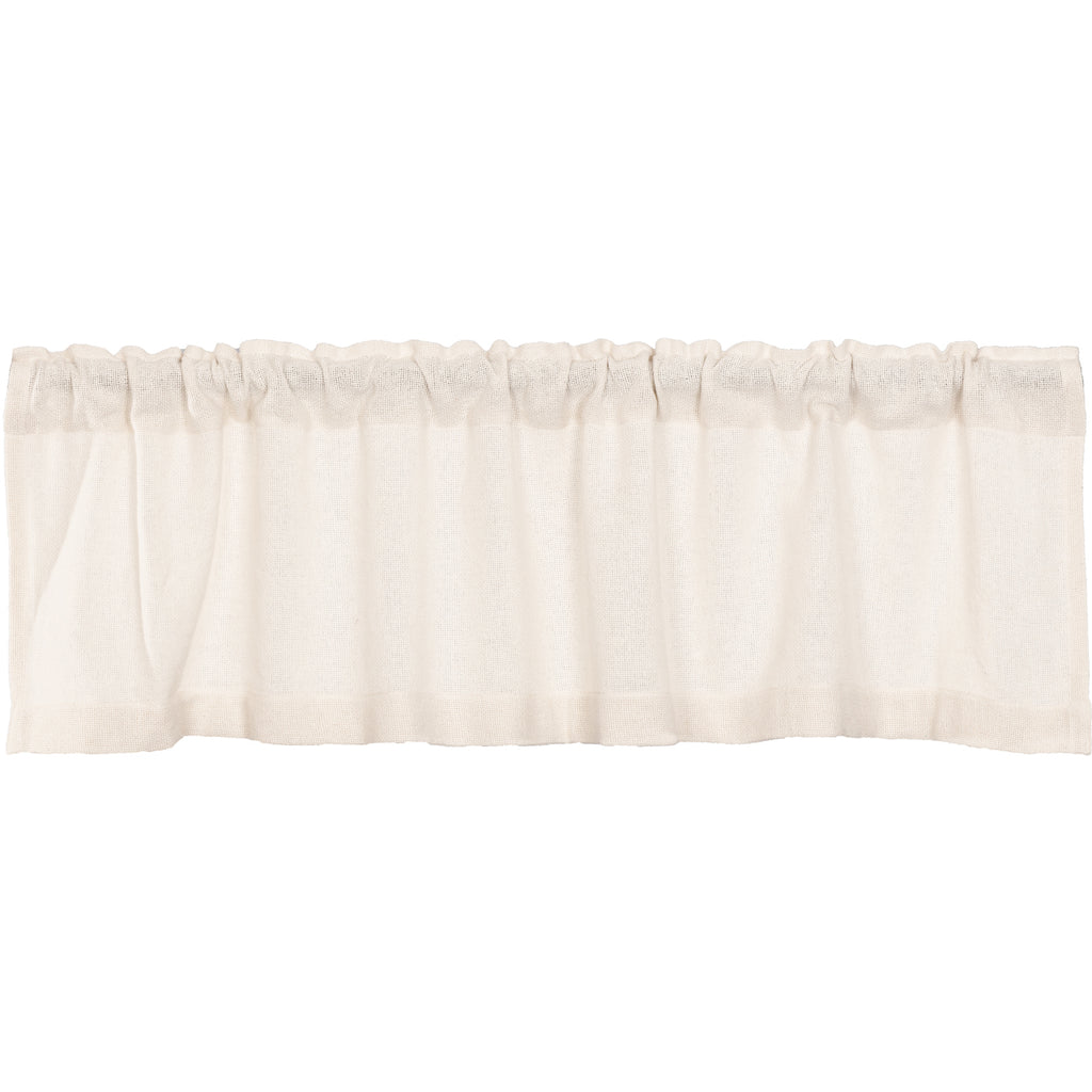 Burlap Antique White Valance 16x60