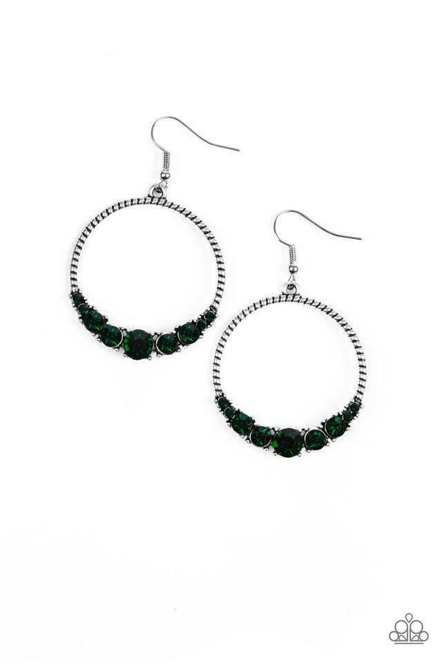 Paparazzi Self-Made Millionaire - Green Earrings