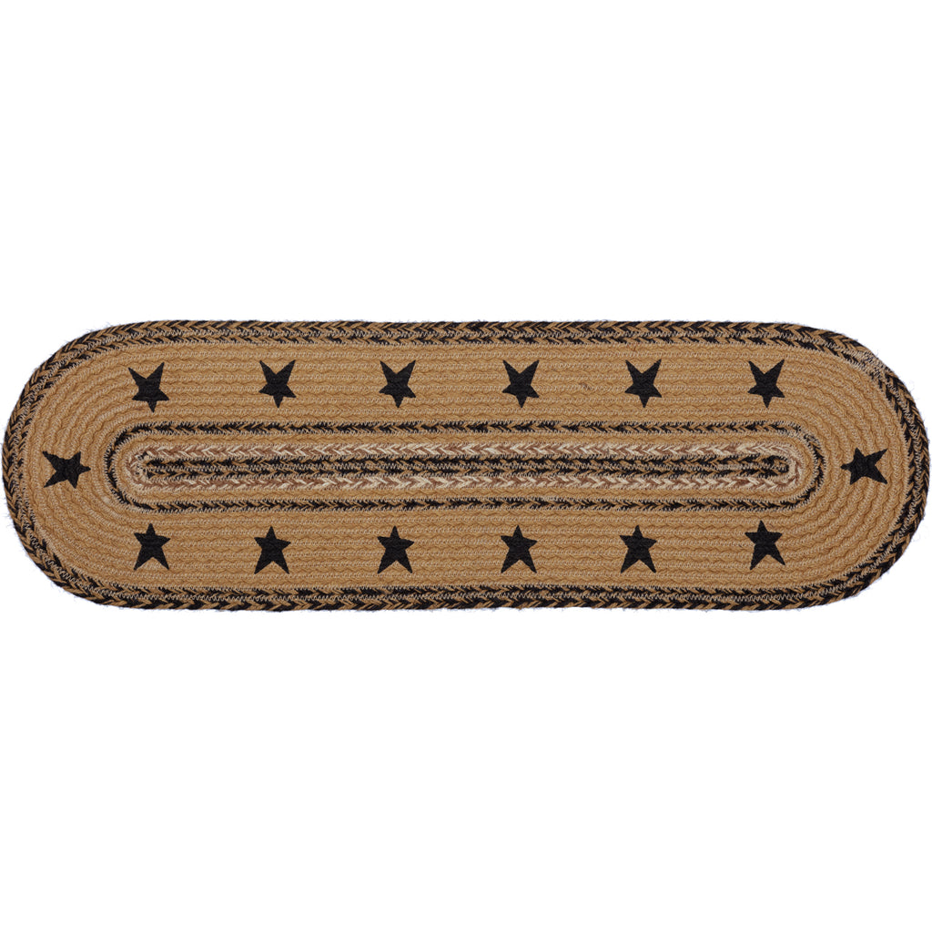 Kettle Grove Jute Stair Tread Stencil Stars Border Oval Latex 8.5x27