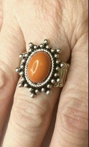 Paparazzi Seasonal Sunshine Orange Ring