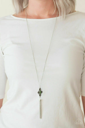Paparazzi Sedona Skies Green Necklace