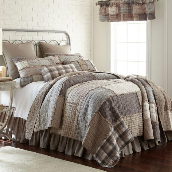 Donna Sharp Smoky Cobblestone Farmhouse Primitive Quilted Collection