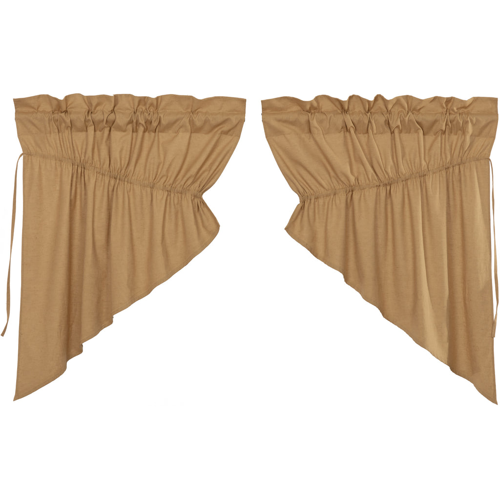 Simple Life Flax Khaki Prairie Swag Set of 2 36x36x18