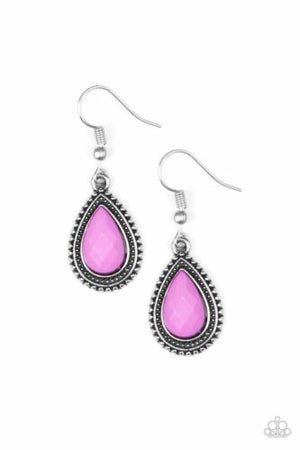 Paparazzi Summer Vacay Purple Earrings