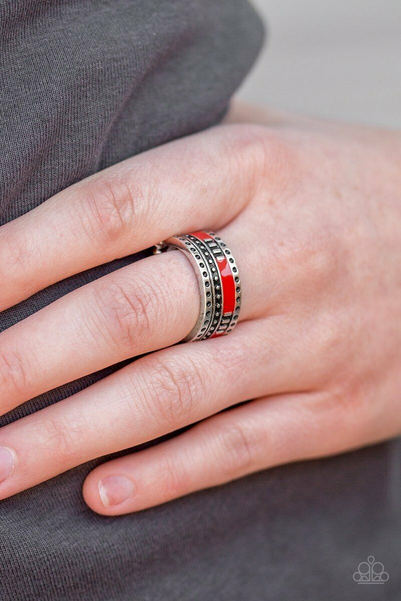Paparazzi Super Summer Red Ring