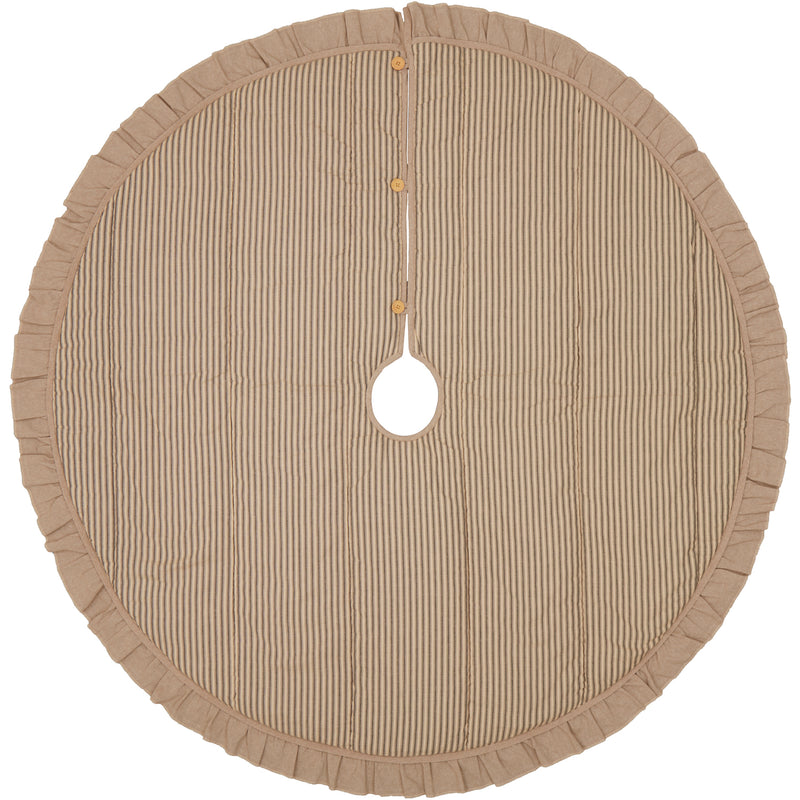 Sawyer Mill Charcoal Ticking Stripe Tree Skirt 60