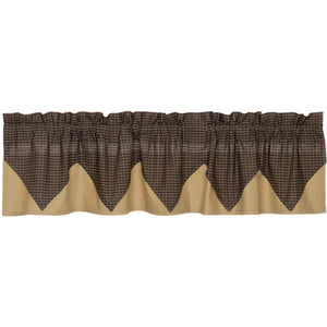 Kettle Grove Plaid Valance Layered 16x72
