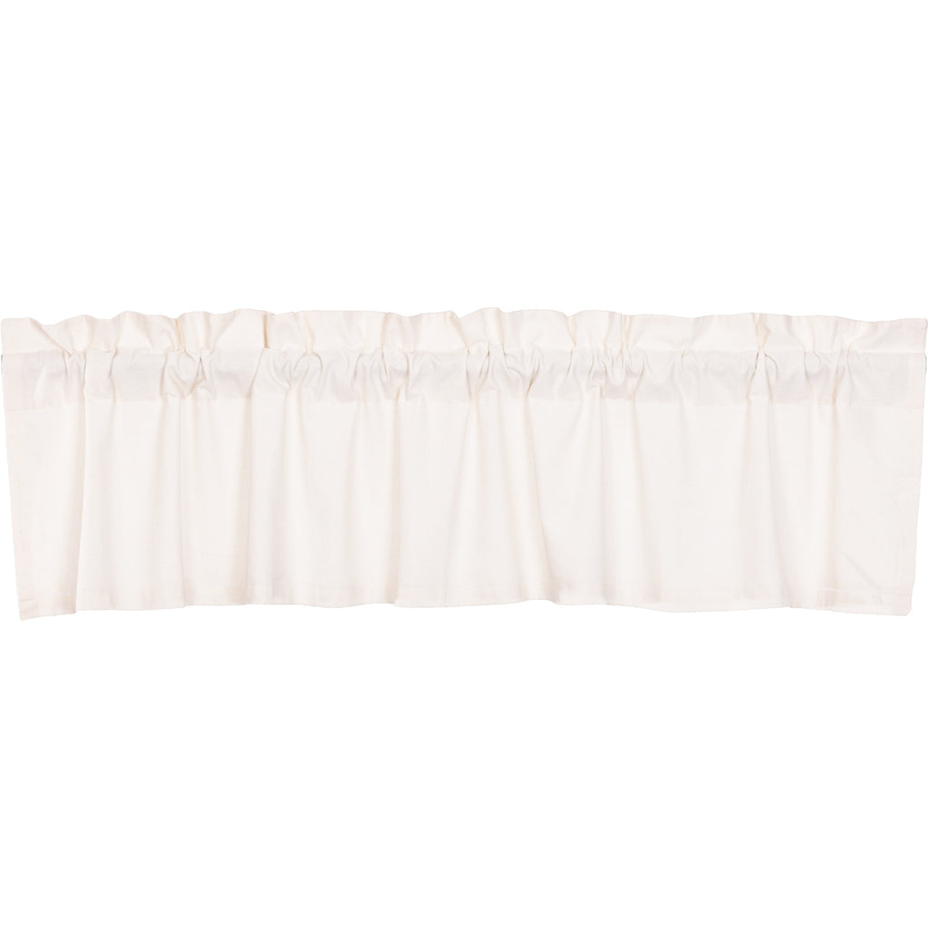 Simple Life Flax Antique White Valance 16x72