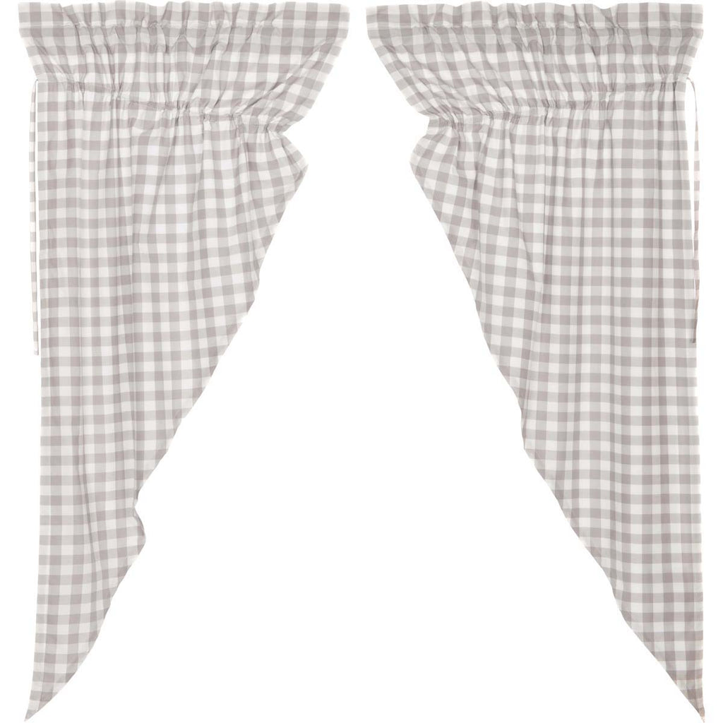 Annie Buffalo Grey Check Prairie Short Panel Set of 2 63x36x18