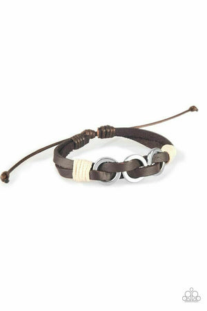 Paparazzi Off-Road Tourist Brown Urban Bracelet