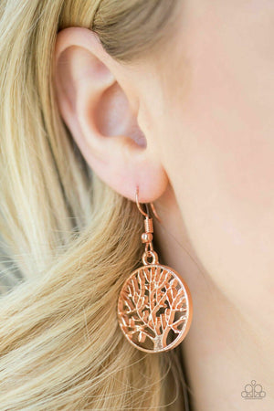 Paparazzi TREE Ring Circus Copper Earrings