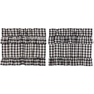 Annie Buffalo Black Check Ruffled Tier Set of 2 L24xW36