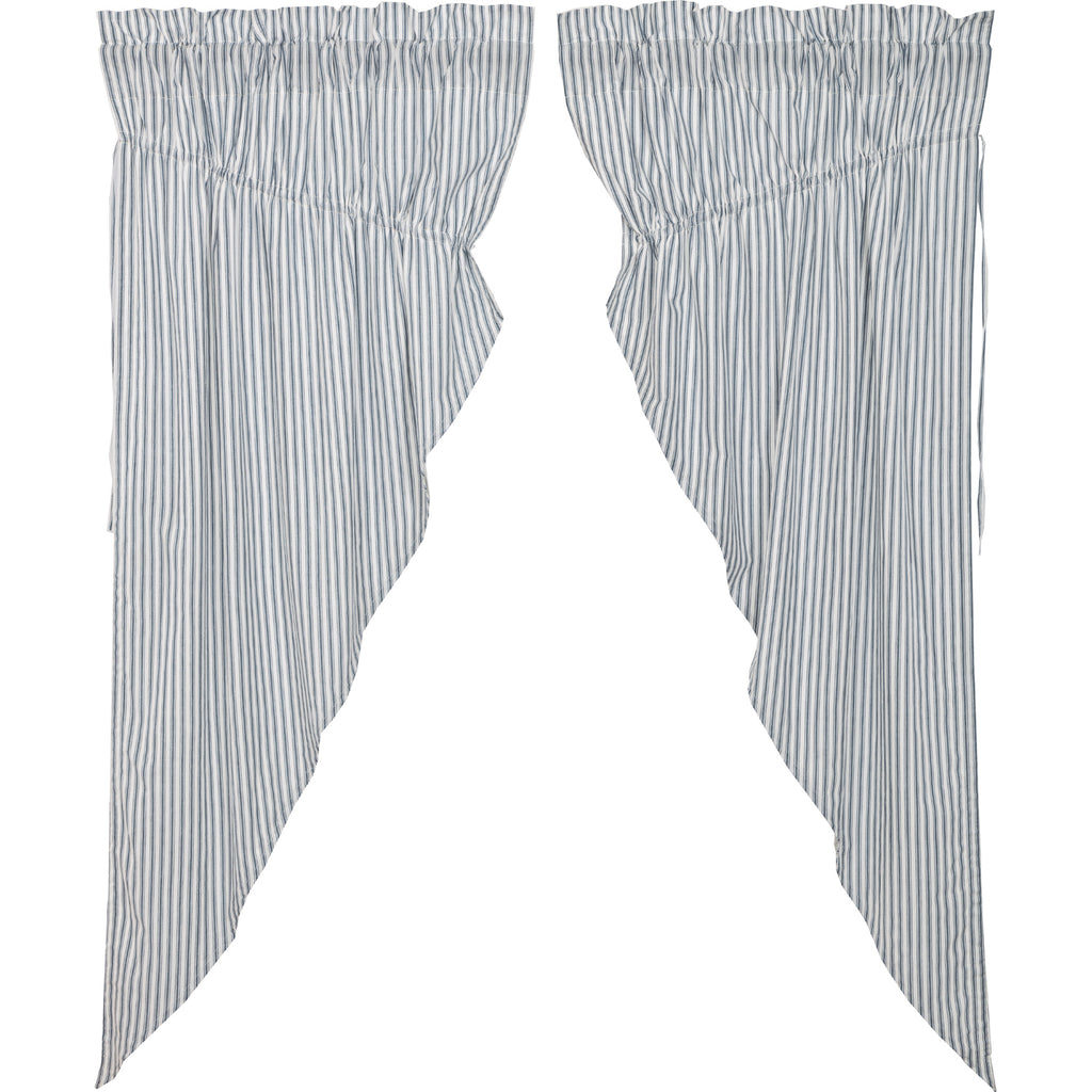 Sawyer Mill Blue Ticking Stripe Prairie Short Panel Set of 2 63x36x18