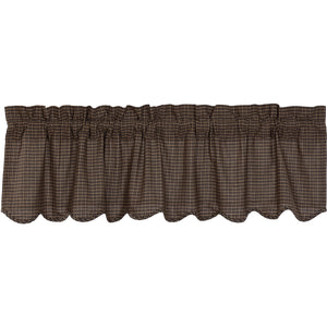 Kettle Grove Plaid Valance Scalloped 16x60