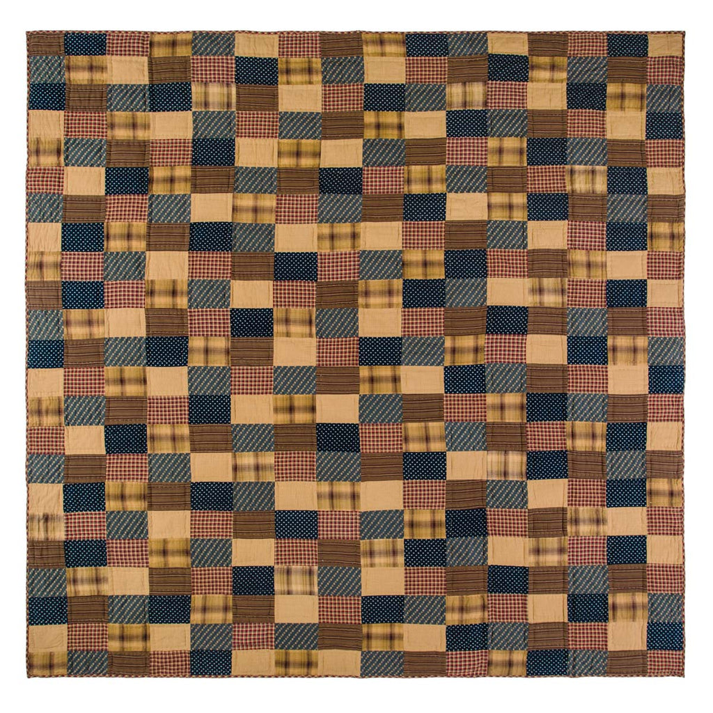 Patriotic Patch King Quilt 110Wx97L