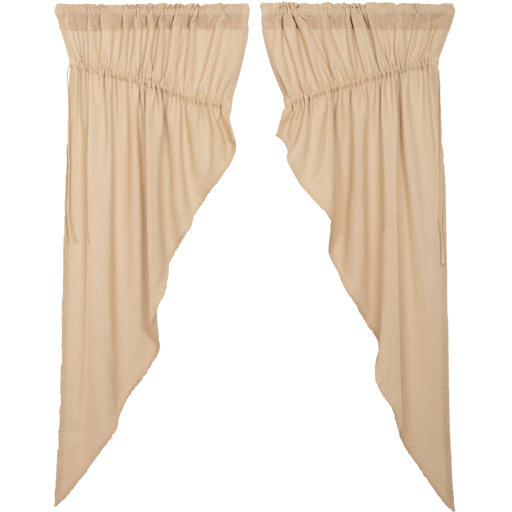 Burlap Vintage Prairie Short Panel Set of 2 63x36x18