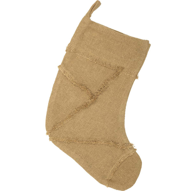 Burlap Natural Reverse Seam Stocking 11x15