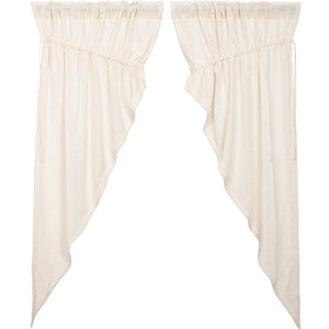 Burlap Antique White Prairie Short Panel Set of 2 63x36x18