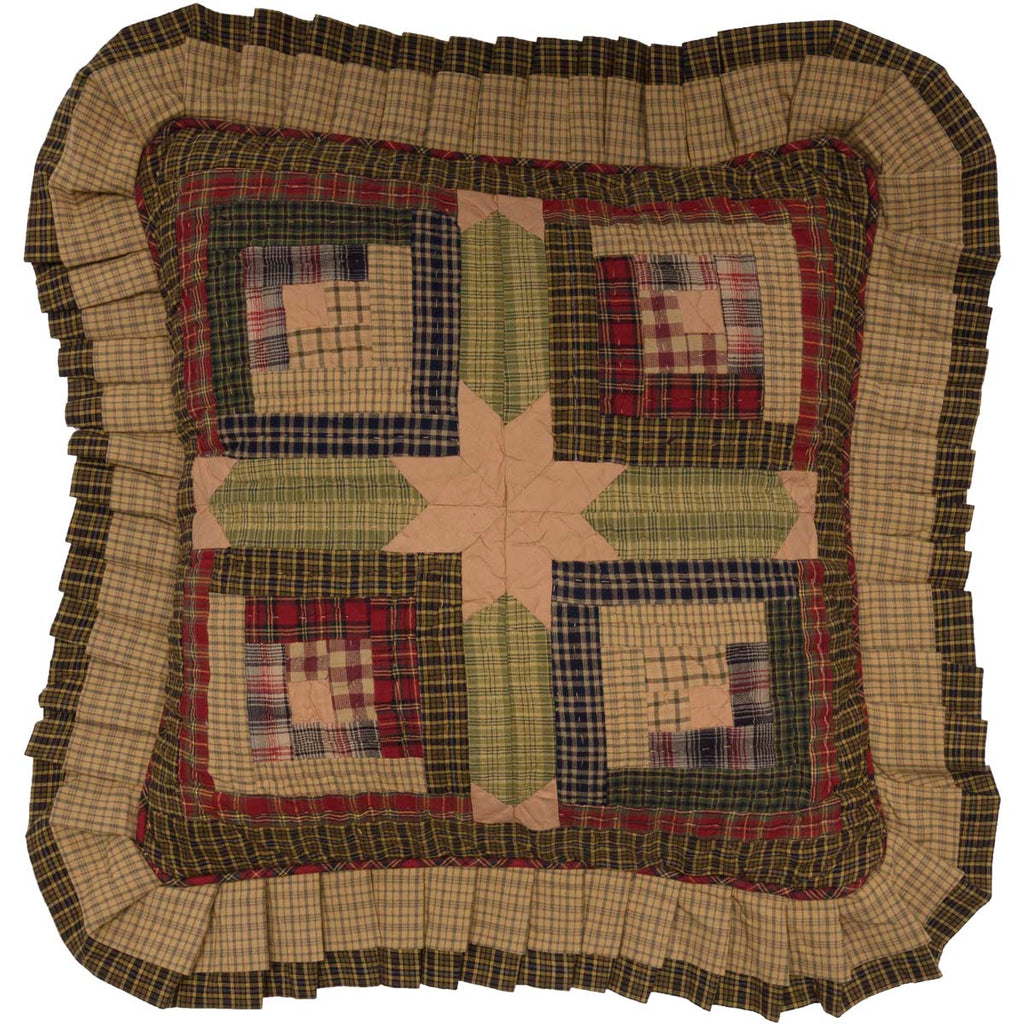 Tea Cabin Pillow Quilted 16x16