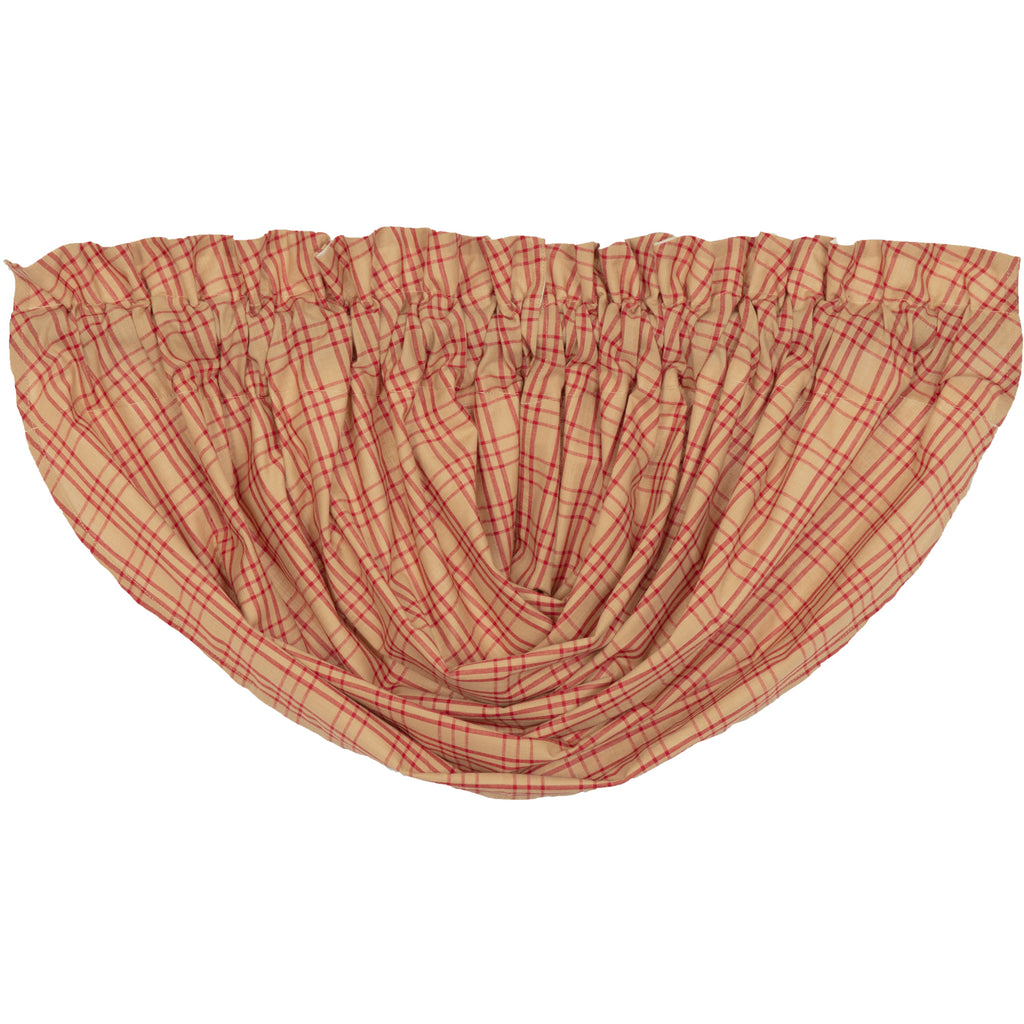 Sawyer Mill Red Plaid Balloon Valance 15x60