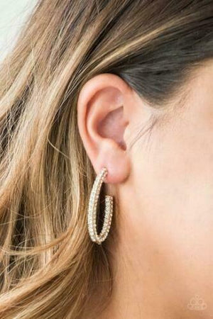 Paparazzi Big Winner Gold Hoop Earrings