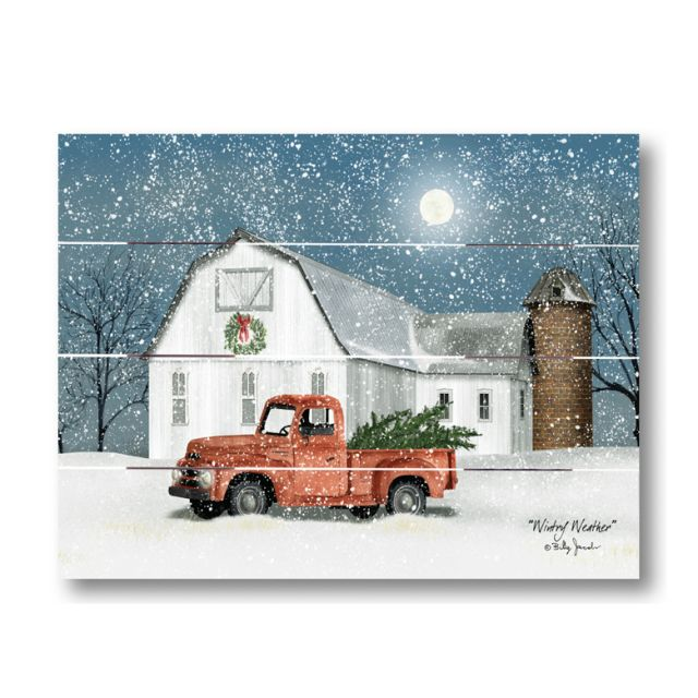 Farmhouse Pallet Wall Art ~ Winter Weather by Billy Jacobs