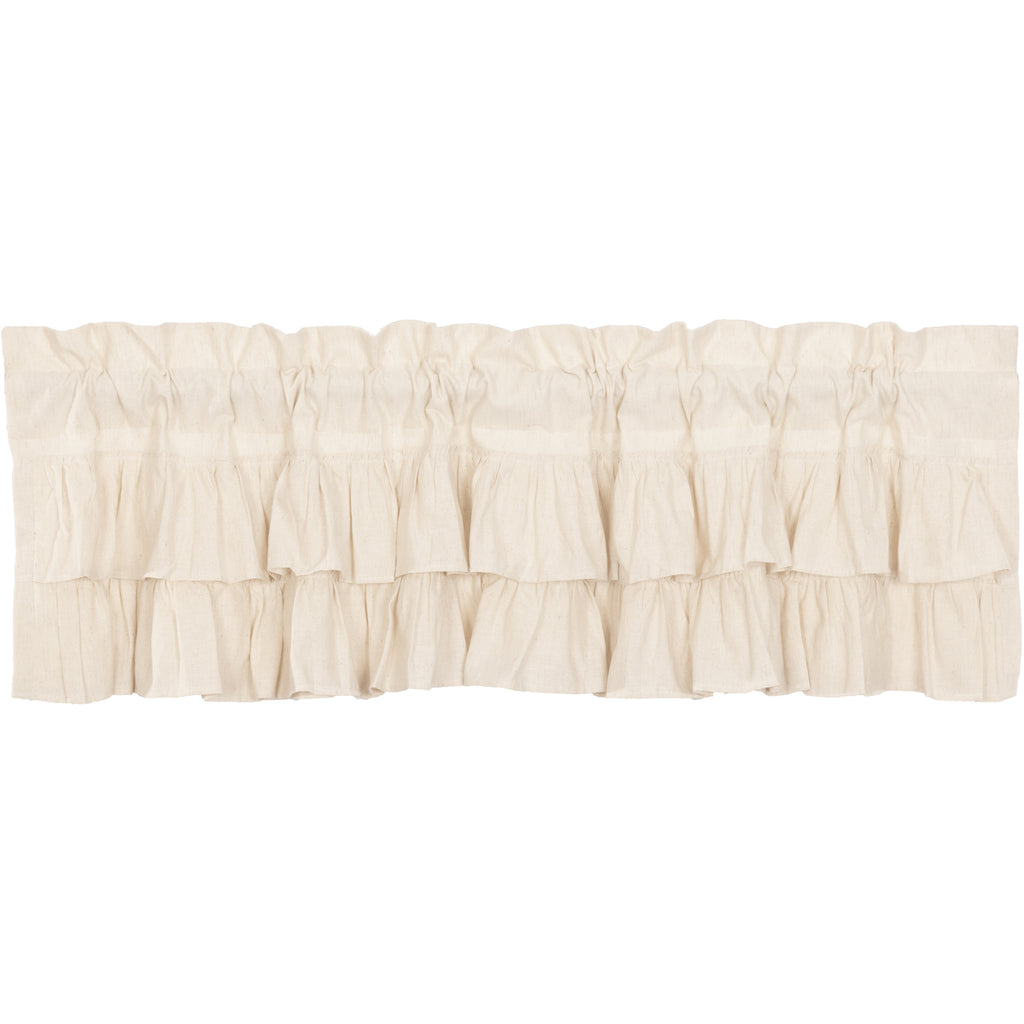 Simple Life Flax Natural Ruffled Valance 16x60