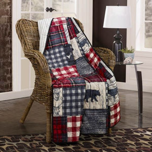 Timber Quilted Collection Throw Front