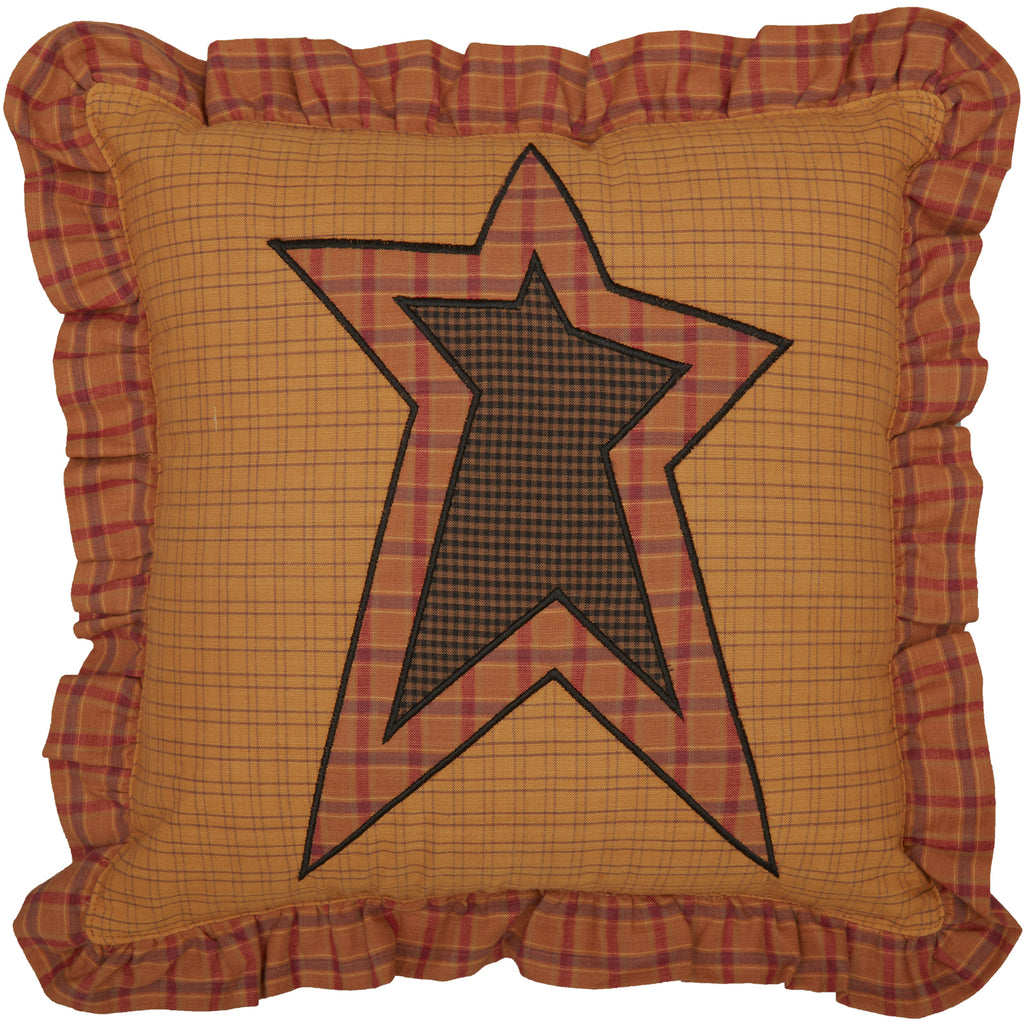 Stratton Applique Star Pillow 12x12