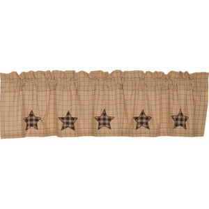 Bingham Star Valance Applique Star 16x72